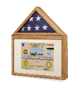 Flag display case - shadow box,medals Case Military
