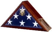 American flag and Urn Display Frame, Urn and flag display case , Our Eternity flag case and urn incorporates our Presidential flag case profile with a built-in urn compartment