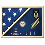 Navy Flag and Medal Display Case