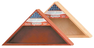 Military Flag Case With Shadow Box - For 5 X 9 Flag