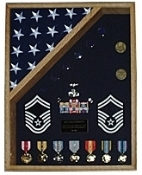 Military Flag and medal case