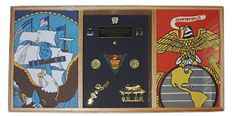 3 Bay Military Shadow Box