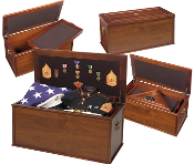 The Heirloom Personal Effects Chest was originally commissioned to honor the memory of those soldiers who have fallen while serving to protect this nation.