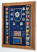 Air Force Awards Display Case, Combo Flag display case