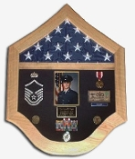 Air force flag case, Air force shadow box, Air force flag holder, SAF Shadow Box, Flag Medal Case
