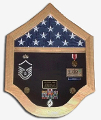 Sergeant Flag Display Cases - Master Sergeant Gift
