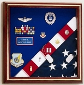 Flag Display Case - American Made for flag and medals