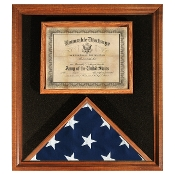 Deluxe USA-Made Solid Hardwood Flag and Document Case