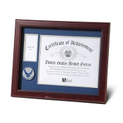 Aim High Air Force Medallion Certificate and Medal frame