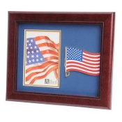 American Flag Medallion Portrait Picture Frame 4 by 6