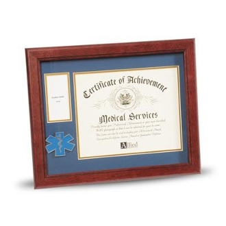 8 by 10 EMS Medallion Certificate and Medal Frame