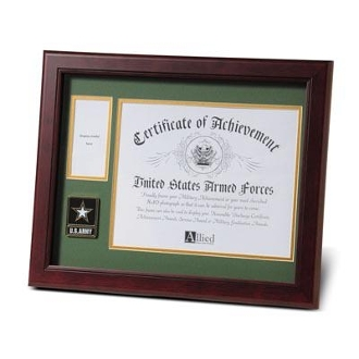 Go Army Medallion Certificate and Medal Frame