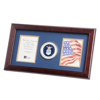 U.S. Air Force Medallion Double Picture Frame