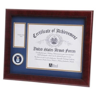 U.S. Air Force Medallion Certificate and Medal Frame