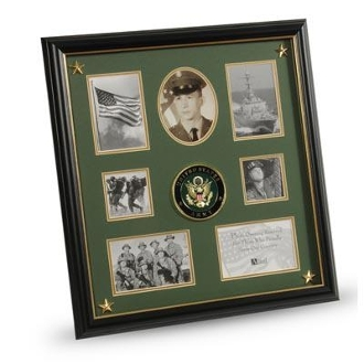 Army Medallion 7 Picture Collage Frame Stars