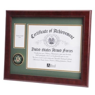 U.S. Army Medallion Certificate and Medal Frame