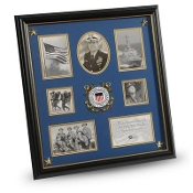 U.S. Coast Guard Medallion 7 Picture Collage Frame with Stars