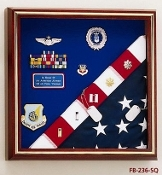 Military Award Medal Flag Display Combination