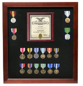 Military Certificate Medal Display Case