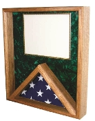 Flag / Certificate Case - for 3x5 flag (Green Velvet)