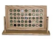 45 Challenge Coin Rack Display