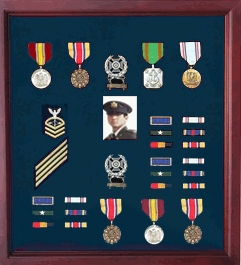 Military Medal Case Shadow Box photo Holder