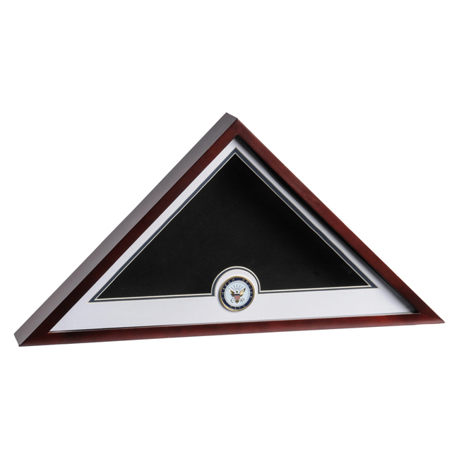Navy Medallion Flag Display Case
