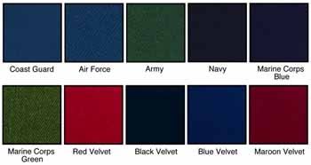 See below list of colors that you can use for that flag case