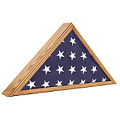 Veteran Oak Flag Case, Military flag display cases