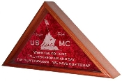Personalized flag display case, American Flag frame