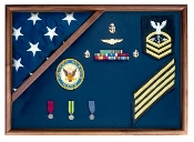 Coast Guard - Flag and medal display case