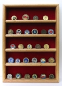Challenge Coins wall Display, Challenge coin wall display