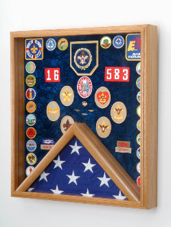 Scout Awards and Flag Display Case,Flag Case for Scout