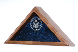 Navy Flag Display Case, Engraved Flag Case, US Navy Flag Cases, Navy Flag Display