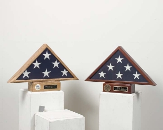 Triangle burial flag and pedestal case,Burial Flag case