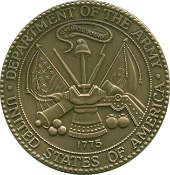 Army Service Medallion, Brass Army Medallion, Army Coin, Army Brass medal, Army Medallion for flag cases