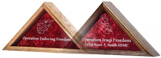 Operation Enduring Freedom flag display case