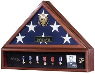Flag and medal display cases - High Quality