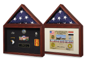 Capitol Flag Presentation Case with Display Shadow Box