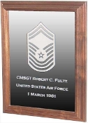 Military Laser Engraved Rank Insignia Mirror Frame, Military Mirror