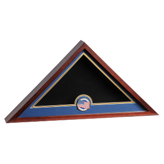 USA MEDALLION FLAG DISPLAY CASE