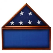 Flag & Memorabilia Display Case, flag and display case, memorabilia case, memorabilia display case, Blue background case