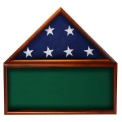 Flag & Memorabilia Display Case, flag and display case, memorabilia case, memorabilia display case, Green background case