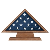 Memorial flag Case on Pedestal