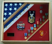 Marine Corps Gifts, USMC Shadow Box, Marine corps flag display