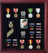 Photo and Medal Display Case, Military Medal Frame with Photo