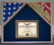 Military flag case for 2 flags and certificate