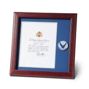 Air Force Medallion Presidential Memorial Certificate Frame