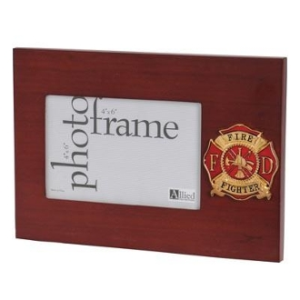 Firefighter Medallion 4 by 6 Desktop Picture Frame