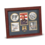 Police Department Medallion 5 Picture Collage Frame